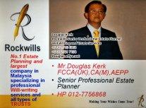 Douglas Kerk Rockwills Senior Professional Estate Planner - Will Writing and Trusts Services Batu Pahat and Kluang Johor Malaysia Property Management PA07