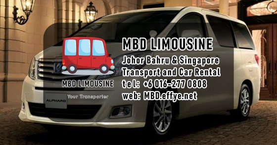 MBD Limousine Johor Bahru Transport and Car Rental Malaysia Transport and Car Rental Singapore Transport and Car Rental Transport between Malaysia and Singapore PA01-00