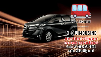 MBD Limousine Johor Bahru Transport and Car Rental Malaysia Transport and Car Rental Singapore Transport and Car Rental Transport between Malaysia and Singapore PA01-02