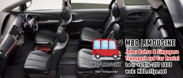 MBD Limousine Johor Bahru Transport and Car Rental Malaysia Transport and Car Rental Singapore Transport and Car Rental Transport between Malaysia and Singapore PA01-12