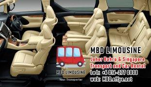 MBD Limousine Pengangkutan Johor Bahru dan Sewa Kereta Johor Bahru Pengangkutan Malaysia dan Sewa Kereta Malaysia dan Singapore Penghantaran Lapangan Terbang Singapura PA01-07