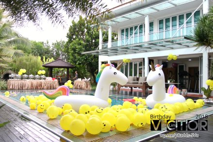 Victor Lim Birthday 2018 in Malaysia Party Buffet Swimming Fun A09