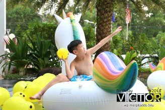 Victor Lim Birthday 2018 in Malaysia Party Buffet Swimming Fun A13