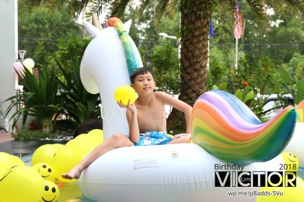 Victor Lim Birthday 2018 in Malaysia Party Buffet Swimming Fun A14