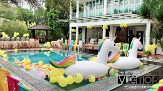 Victor Lim Birthday 2018 in Malaysia Party Buffet Swimming Fun A25