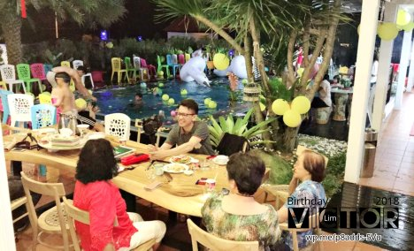 Victor Lim Birthday 2018 in Malaysia Party Buffet Swimming Fun A31
