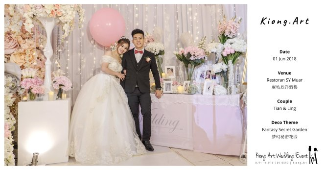 Kiong Art Wedding Event Kuala Lumpur Malaysia Event and Wedding Decoration Company One-stop Wedding Planning Services Wedding Theme Fantasy Secret Garden Restoran SY Muar A03-52
