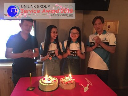 Unilink Group 5 and 10 Years Service Award Night 2018 from Agensi Pekerjaan Unilink Prospects Sdn Bhd at Niwa Japanese Karaoke 05