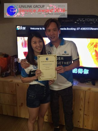 Unilink Group 5 and 10 Years Service Award Night 2018 from Agensi Pekerjaan Unilink Prospects Sdn Bhd at Niwa Japanese Karaoke 08