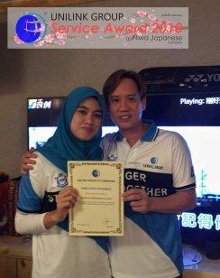 Unilink Group 5 and 10 Years Service Award Night 2018 from Agensi Pekerjaan Unilink Prospects Sdn Bhd at Niwa Japanese Karaoke 10