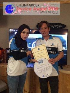 Unilink Group 5 and 10 Years Service Award Night 2018 from Agensi Pekerjaan Unilink Prospects Sdn Bhd at Niwa Japanese Karaoke 27