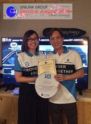 Unilink Group 5 and 10 Years Service Award Night 2018 from Agensi Pekerjaan Unilink Prospects Sdn Bhd at Niwa Japanese Karaoke 28