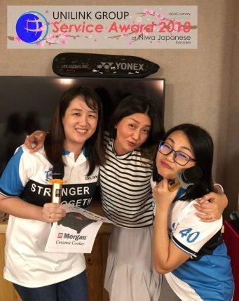 Unilink Group 5 and 10 Years Service Award Night 2018 from Agensi Pekerjaan Unilink Prospects Sdn Bhd at Niwa Japanese Karaoke 43