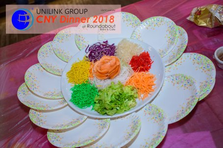 Unilink Group Chinese New Year Dinner 2018 from Agensi Pekerjaan Unilink Prospects Sdn Bhd at Roundabout Bisrto and Cafe 09