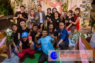 Unilink Group Chinese New Year Dinner 2018 from Agensi Pekerjaan Unilink Prospects Sdn Bhd at Roundabout Bisrto and Cafe 12