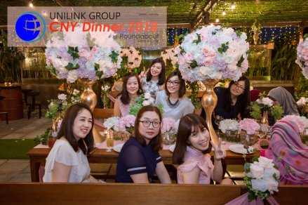 Unilink Group Chinese New Year Dinner 2018 from Agensi Pekerjaan Unilink Prospects Sdn Bhd at Roundabout Bisrto and Cafe 26