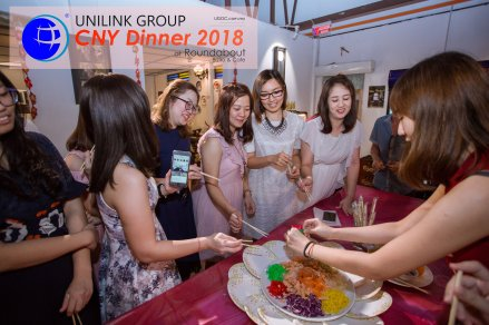 Unilink Group Chinese New Year Dinner 2018 from Agensi Pekerjaan Unilink Prospects Sdn Bhd at Roundabout Bisrto and Cafe 48