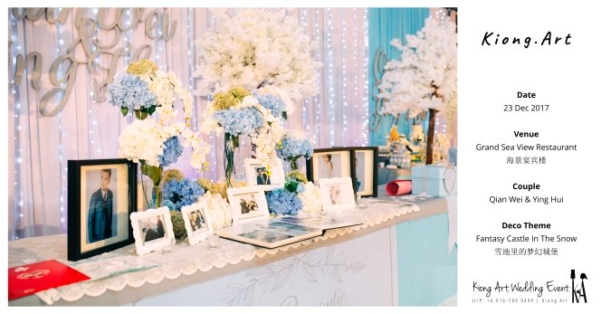 Kiong Art Wedding Event Kuala Lumpur Malaysia Wedding Decoration One-stop Wedding Planning Wedding Theme Fantasy Castle In The Snow Grand Sea View Restaurant A06-A00-02