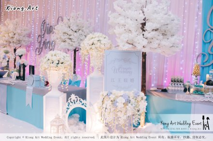 Kiong Art Wedding Event Kuala Lumpur Malaysia Wedding Decoration One-stop Wedding Planning Wedding Theme Fantasy Castle In The Snow Grand Sea View Restaurant A06-A01-01