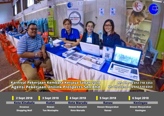Malaysia Karnival Pekerjaan Kembara Kerjaya Sabah 2018 Agensi Pekerjaan Unilink Prospects Sdn Bhd 专业合法人力资源介绍所 A01