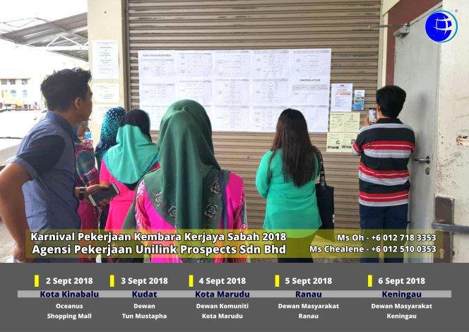 Malaysia Karnival Pekerjaan Kembara Kerjaya Sabah 2018 Agensi Pekerjaan Unilink Prospects Sdn Bhd 专业合法人力资源介绍所 A04