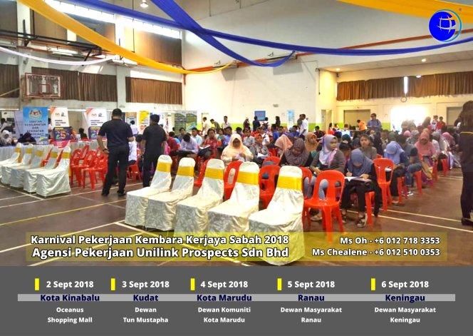Malaysia Karnival Pekerjaan Kembara Kerjaya Sabah 2018 Agensi Pekerjaan Unilink Prospects Sdn Bhd 专业合法人力资源介绍所 A09