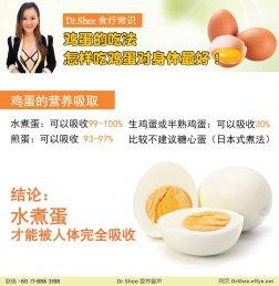 徐悦馨博士 整体营养自然医学 Dr Axellel Shee 营养馨声 你的专属整体营养专家 营养博士 Dr Shee Ph.D 鸡蛋的吃法 怎样吃鸡蛋对身体最好 A034-03