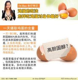徐悦馨博士 整体营养自然医学 Dr Axellel Shee 营养馨声 你的专属整体营养专家 营养博士 Dr Shee Ph.D 鸡蛋的吃法 怎样吃鸡蛋对身体最好 A034-04