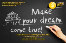 Johor Licensed Loan Company Licensed Money Lender Lupin Resources Malaysia SDN BHD Your money resource provider Kulai Johor Bahru Johor Malaysia Business Loan A01-34