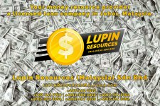 Johor Licensed Loan Company Licensed Money Lender Lupin Resources Malaysia SDN BHD Your money resource provider Kulai Johor Bahru Johor Malaysia Business Loan A01-35