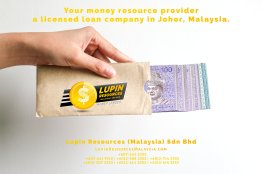 Johor Licensed Loan Company Licensed Money Lender Lupin Resources Malaysia SDN BHD Your money resource provider Kulai Johor Bahru Johor Malaysia Business Loan A01-77