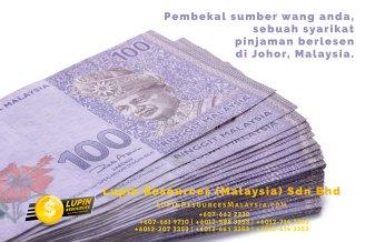 Johor Syarikat Pinjaman Berlesen Lupin Resources Malaysia SDN BHD Pembekal Sumber Wang Anda Kulai Johor Bahru Johor Malaysia Pinjaman Perniagaan Pinjaman Peribadi A01-20