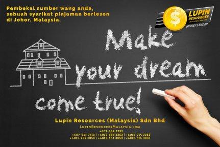 Johor Syarikat Pinjaman Berlesen Lupin Resources Malaysia SDN BHD Pembekal Sumber Wang Anda Kulai Johor Bahru Johor Malaysia Pinjaman Perniagaan Pinjaman Peribadi A01-34