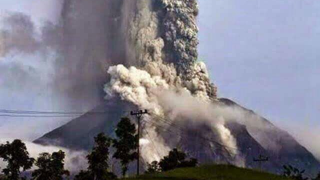 Not sure is this volcano has erupted on the Indonesian island