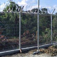Project Security Fence at Ulu Tiram, Johor, Malaysia.
