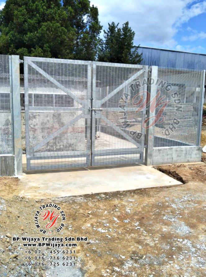 bp wijaya trading sdn bhd security fence project yong peng johor malaysia hotdip galvanized anti climb fence and hotdip anti climb fence gate a003