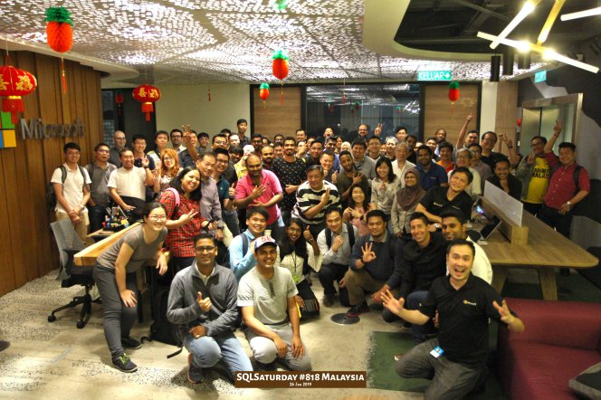 SQLSaturday 818 Malaysia 26 Jan 2019 at Microsoft Malaysia SQLSaturday is a training event for SQL Server professionals and those wanting to learn about SQL Server PA002