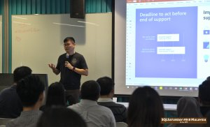 SQLSaturday 818 Malaysia 26 Jan 2019 at Microsoft Malaysia SQLSaturday is a training event for SQL Server professionals and those wanting to learn about SQL Server PC010