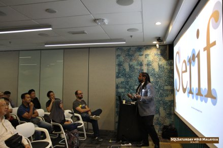 SQLSaturday 818 Malaysia 26 Jan 2019 at Microsoft Malaysia SQLSaturday is a training event for SQL Server professionals and those wanting to learn about SQL Server PC080