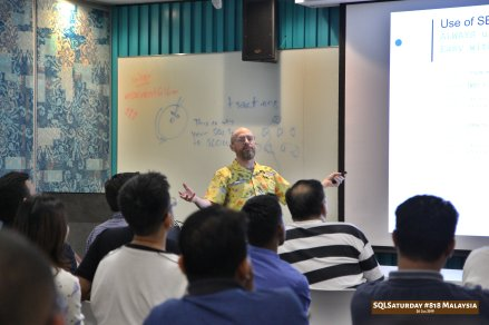 SQLSaturday 818 Malaysia 26 Jan 2019 at Microsoft Malaysia SQLSaturday is a training event for SQL Server professionals and those wanting to learn about SQL Server PC110