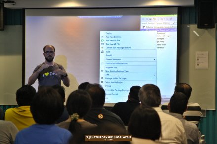 SQLSaturday 818 Malaysia 26 Jan 2019 at Microsoft Malaysia SQLSaturday is a training event for SQL Server professionals and those wanting to learn about SQL Server PC126