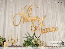 Malaysia Kuala Lumpur Wedding Event Kiong Art Wedding Deco Decoration One-stop Wedding Planning of Nelson and Jeanine Wedding 陈永馨 中国好声音 A11-A01-19