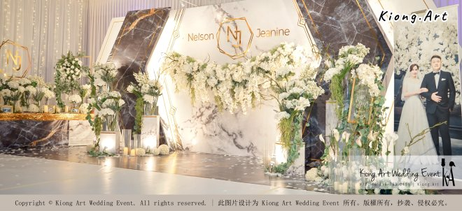 Malaysia Kuala Lumpur Wedding Event Kiong Art Wedding Deco Decoration One-stop Wedding Planning of Nelson and Jeanine Wedding 陈永馨 中国好声音 A11-A04-03