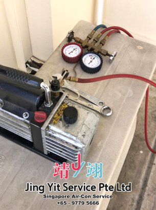 Singapore AirCon Service Air Conditioning Cleaning Repairing and Installation Air-con Gas Refill Aircon Chemical Wash Singapore Jing Yit Service Pte Ltd A02-14