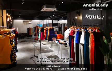 Johor Batu Pahat Ladies Dress Boutique Angela Lady Collection Dinner Dress Evening Gown Maxi Dress Evening Dress Gown Boutique Fashion Lady Apparel Clothes Jeans Skirt Pants Malaysia A01-011
