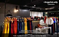 Johor Batu Pahat Ladies Dress Boutique Angela Lady Collection Dinner Dress Evening Gown Maxi Dress Evening Dress Gown Boutique Fashion Lady Apparel Clothes Jeans Skirt Pants Malaysia A01-015
