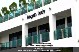 Johor Batu Pahat Ladies Dress Boutique Angela Lady Collection Dinner Dress Evening Gown Maxi Dress Evening Dress Gown Boutique Fashion Lady Apparel Clothes Jeans Skirt Pants Malaysia A03-007