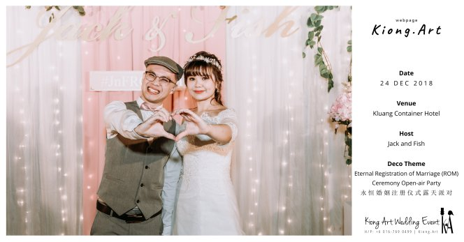 Malaysia Kuala Lumpur Wedding Decoration Kiong Art Wedding Deco Eternal Registration of Marriage Ceremony Open-air Party of Jack and Fish ROM at Kluang Container Hotel A14-A00-11