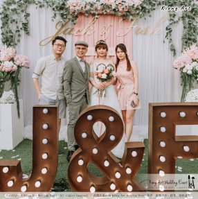 Malaysia Kuala Lumpur Wedding Decoration Kiong Art Wedding Deco Eternal Registration of Marriage Ceremony Open-air Party of Jack and Fish ROM at Kluang Container Hotel A14-A01-075
