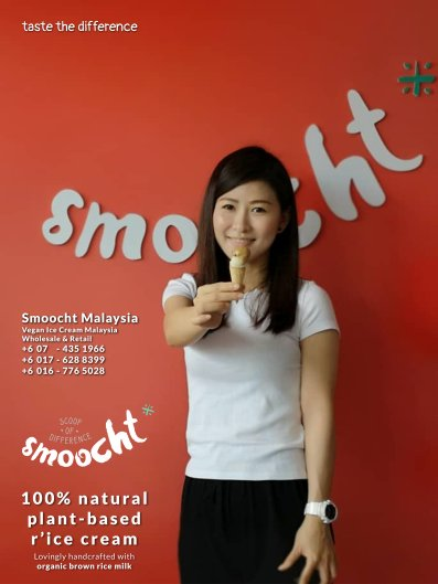 Smoocth Malaysia Vegan Ice Cream Malaysia at Batu Pahat Johor Malaysia Dessert Wholesale Ice Cream and Retail Ice Cream Plant-Based Products Taste The Different of Rice Cream B01-018